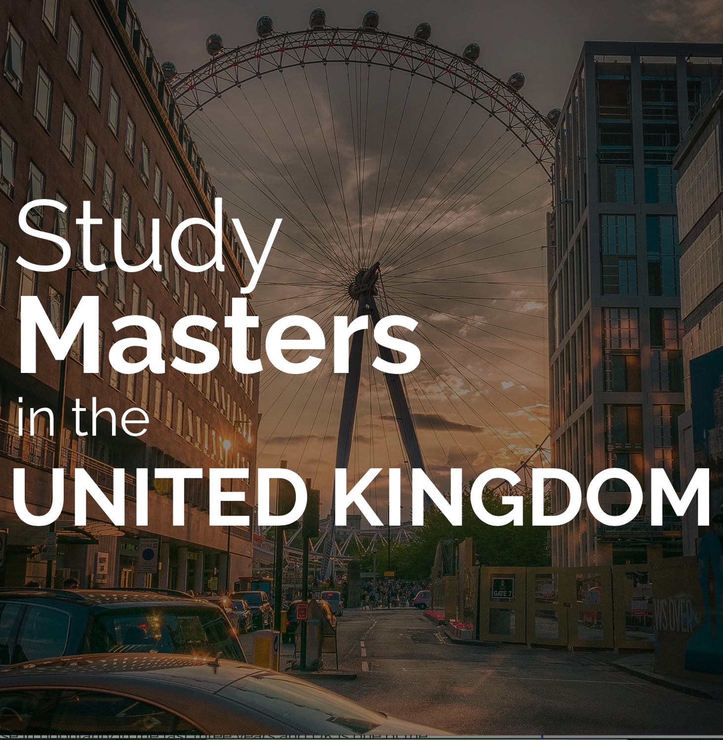 Study Masters in the UK