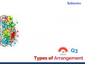 Application - Types of Arrangement (Difficult)